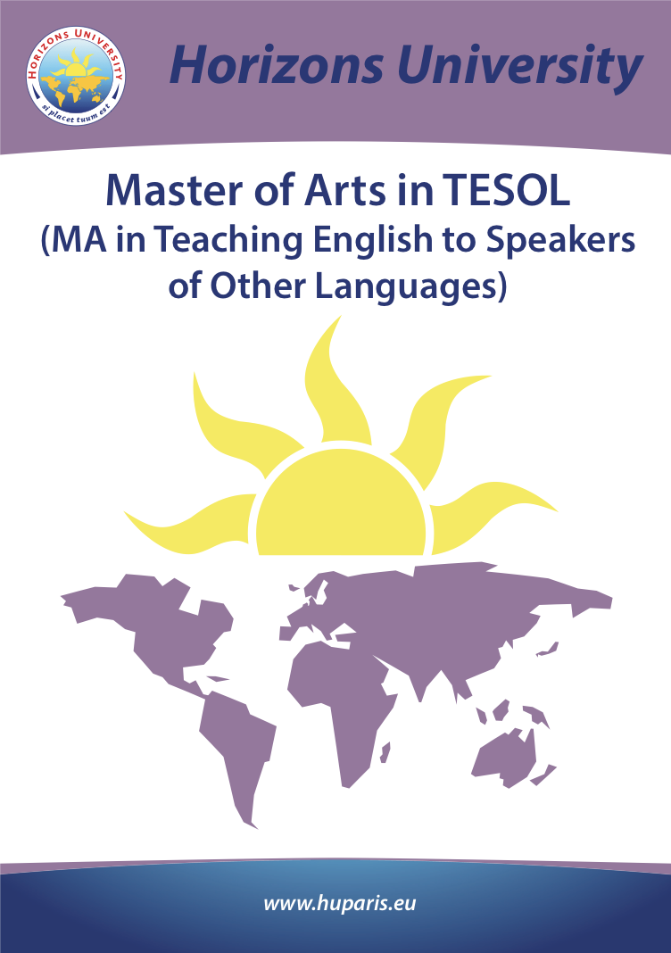 Master of Arts in TESOL
