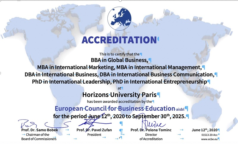 ECBE re-accreditation